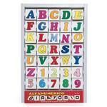Conjunto Alfanumérico Giratório em Mdf - PVC - Carlu Brinquedos