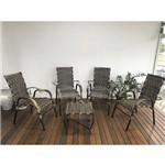 Conjunto Área com 4 Cadeiras e Mesa de Centro