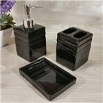Conjunto Banheiro Porcelana Quadrado 3 Peças Luxo