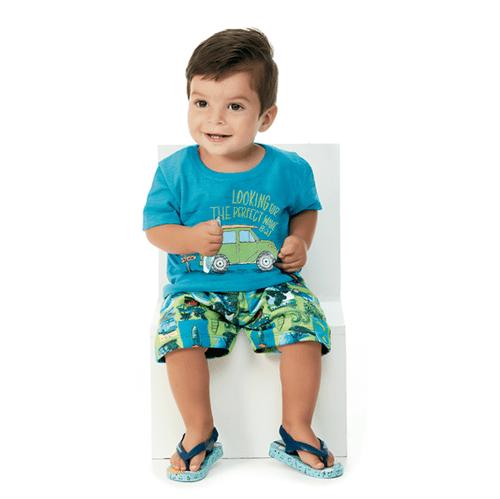 Conjunto Bebê Abrange Surf Azul e Verde BP