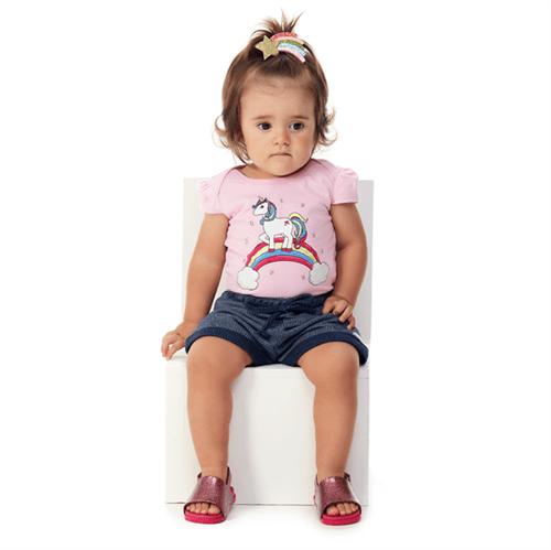 Conjunto Bebê Abrange Unicórnio Rosa e Roxo BP