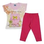 Conjunto Bebê Feminino Verão Blusa Rosa e Legging Pink-1