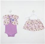 Conjunto Bebê Feminino Verão Saia Floral-P