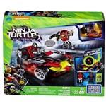 Conjunto Blocos de Montar Tartarugas Ninja Mega Bloks Ataque Motorizado Veiculo com Luz - Mattel
