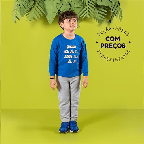 Conjunto Blusa e Calça Conj.casaco e Calca Avulso Mescla e Royal/6 e 7