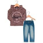 Conjunto Brandili Mindi Blusa Calça Jeans