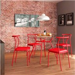 Conjunto 2 Cadeiras 1708 Vermelho Real