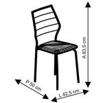 Conjunto 2 Cadeiras 1716 Carraro Fantasia Branco