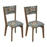 Conjunto 2 Cadeiras Dalla Costa Ca22 - Nobre/Ladrilho