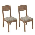Conjunto 2 Cadeiras Dalla Costa Ca12 Veludo Milano Floral - Nobre