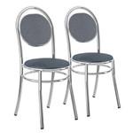 Conjunto 2 Cadeiras em Aço 19020675 Jeans/cromado - Carraro