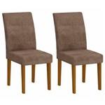 Conjunto 2 Cadeiras Grecia Rufato Imbuia/Animalle Chocolate
