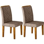 Conjunto 2 Cadeiras Jade – Rufato - Imbuia / Animalle Chocolate