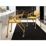 Conjunto 2 Cadeiras para Escritório Carraro - Amarelo Ouro/Amarelo Ouro