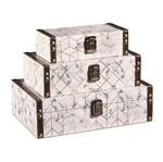 Conjunto 3 Caixas Decorativas Marmo 10205 Mart