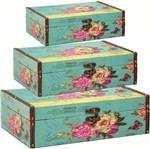 Conjunto 3 Caixas Flower 4805/3 Mart