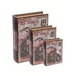 Conjunto 3 Caixas Livro Moto 6185