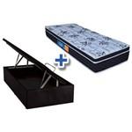 Conjunto Cama Box Baú - Colchão Probel de Espuma D33 ProDormir Senior Mega Resistente + Cama Box Baú Nobuck Nero Black - Solteiro 0,88x1,88