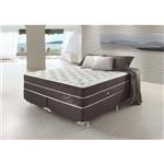 Conjunto Cama Box King Double Confort Relax com Massageador 193x203x78 Colchão + Cama Box