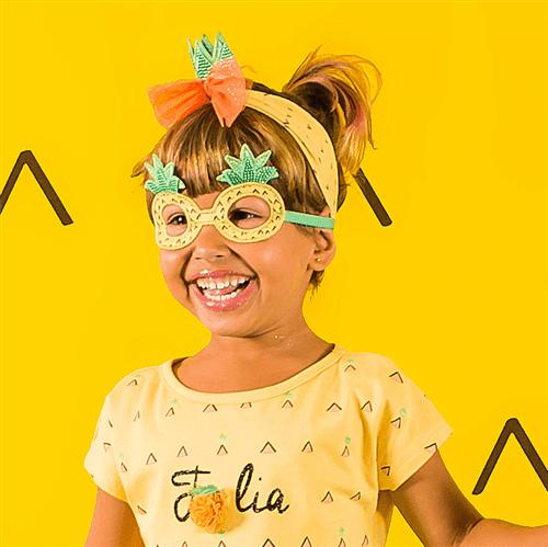 Conjunto Carnaval Mini Abacaxi Amarelo Forte/m