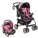 Conjunto Carrinho de Bebê AT6 K + Bebê Conforto Touring Evolution SE Burigotto - Preto/Rosa