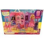 Conjunto Casa Quarto Encantado com Móveis e Acessórios - Barbie a Princesa e a Pop Star - Compacto Vira Maleta para Você Carregar para Onde Quiser - Mattel / Ano de Fabricação: 2011