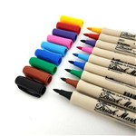 Conjunto com 10 Canetas Brush Pen Marker Artline Tilibra