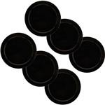 Conjunto com 6 Pratos Rasos 26cm - Mail Order Black - Oxford Daily