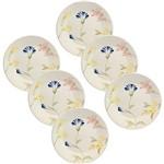 Conjunto com 6 Pratos Rasos 26cm Mail Order May - Biona