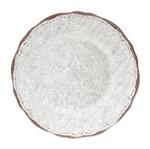 Conjunto com 6 Pratos Rasos Branco Querta Bon Gourmet