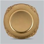Conjunto com 6 Sousplats de Plástico Dourado Provençal Bon Gourmet