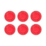 Conjunto com 6 Sousplats de Plástico Vermelho Kim Bon Gourmet