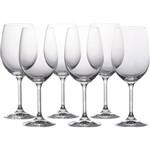 Conjunto com 6 Taças de Cristal para Vinho Tinto Roberta 350ml Bohemia