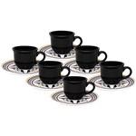 Conjunto com 6 Xícaras de Café 75ml com Píres Luiza - Oxford Daily