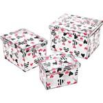 Conjunto com 3 Caixas Organizadoras Garota Ludi