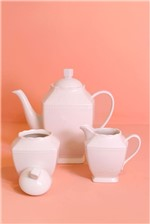 Conjunto com 3 Peças para Café de Porcelana