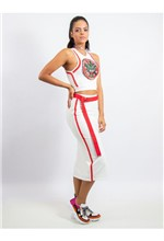 Conjunto Cropped e Saia com Patch Tigre e Transfer - 38