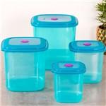 Conjunto de 04 Potes Sanremo Azul Azul