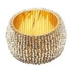 Conjunto de 4 Anéis para Guardanapos Dourado Soft Bon Gourmet
