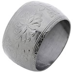 Conjunto de 4 Anéis para Guardanapos em Alumínio Prata Escuro 2193 Lyor