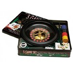 Conjunto de 5 Jogos - Roulette, Poker, Black Jack, Craps, Poker Dice