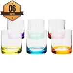 Conjunto de 6 Copos para Whisky 310ml Set Bar Colorido Bohemia