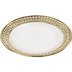 Conjunto de 6 Pratos para Sobremesa em Porcelana Branco Charme 8120 Lyor