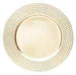 Conjunto de 6 Sousplats de Plástico Dourado Destiny 4034 Lyor