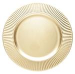 Conjunto de 6 Sousplats de Plástico Dourado Primer 4041 Lyor