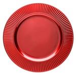 Conjunto de 6 Sousplats de Plástico Vermelho Primer 4040 Lyor