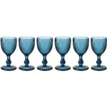 Conjunto de 6 Taças Incasa Bicos de Jaca - Azul