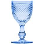 Conjunto de 6 Taças para Água 255ml Azul Bico de Jaca Bon Gourmet