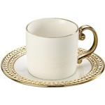 Conjunto de 6 Xícaras para Chá em Porcelana Dourada 220ml Charme 8123 Lyor