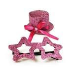 Conjunto de Acessórios Carnaval Festas Estrela Rosa